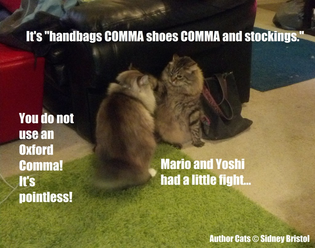 Author Cats #01 Oxford Comma
