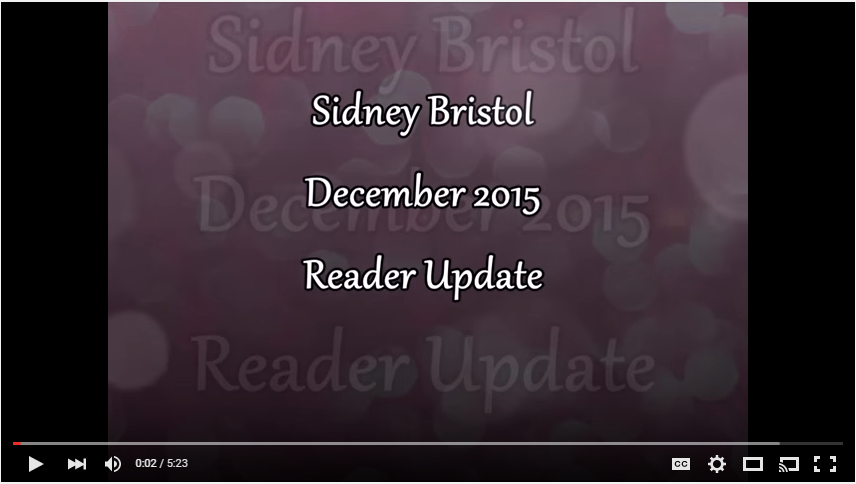 The December 2015 Reader Update Vlog is here!